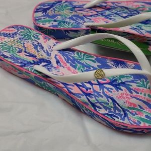 589a319c3 Lilly Pulitzer Shoes - Lilly Pulitzer Jet Stream Multi Flip Flops 7 8 NWT